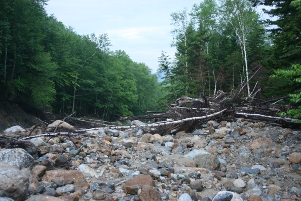 Dry River hurricane damage