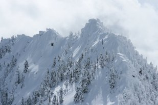 Mt. Crumpet. And yes, we skieed it.